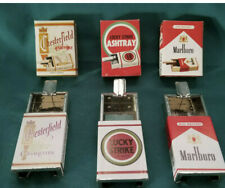 3-Vintage NOS Lucky Strike, Marlboro and Chesterfield Cigarette Ashtray's 1950s