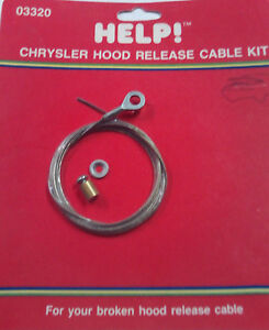 Dorman Help 03320 Hood Release Cable Kit for 1976-87 Dodge Chrysler & Plymouth