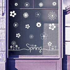 Hello Spring Time Greetings Vinyls Shop Window Display Wall Decals Stickers B18