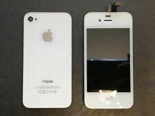 IPhone 4g pantalla táctil Touch + retina pantalla LCD Tapa batería set vidrio blanco