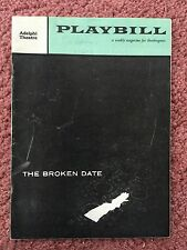 1958 Playbill, Broken Date, autographs, Jean Seberg/  Paulette Goddard
