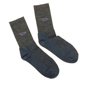 DeFeet WoolEator D-Logo Charcoal Hi-Top Cycling/Running Socks, Medium, 7-9