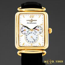 ULYSSE NARDIN MICHELANGELO 18K GOLD POWER RESERVE AUTOMATIC BOX & PAPERS