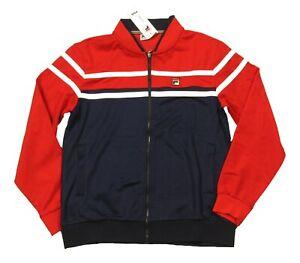 FILA Men's Navy/Red Multi Colorblock Track Jacket