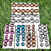 Job Lot 36 Pairs of Handmade 925 Sterling Silver Metallic Stud Earrings #2