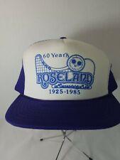Vintage Roseland Park Canandaigua NY 1985 snap back hat, rare