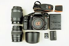 Sony a77 24.3MP DSLR Bundle w/2 lenses, battery, charger & SD card