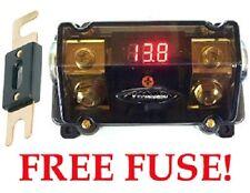 XScorpion 0 2 4 Gauge GOLD Digital ANL Fuse Holder Amp Install Power Wiring LED