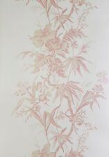4 Rolls of Wallpaper Cream with Pearl shades & pink Flowers H7307 by Crowsons