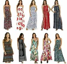 Ladies Cotton, Viscose or Polyester Maxi Beach Holiday Dress, Various Styles
