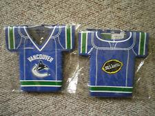 vancouver canucks nhl hockey beer koozie x 6 mikes hard lemonade jersey shaped