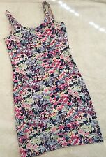 Divided By H&M Floral Pattern Multi Color Low Open Back Bodycon Dress Size 4