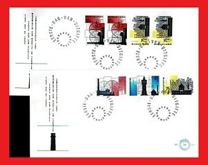 ZAYIX - 1987 Netherlands B626-28a FDCs set & booklet - Traditional Industry