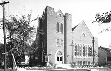 Iowa Falls~Congregational Church on College Ave~Rows of Windows~1955 RPPC