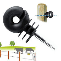 NEW Ring Insulator Electric Fencing Screw in Compact 6 mm Farm Animals Fence UK