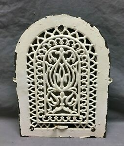 Antique Cast Iron Arch Top Dome Heat Grate 9x12 Register Old VTG White 1065-21B