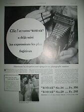 PUBLICITE DE PRESSE KODAK APPAREIL PHOTO SIX-16 EXPRESSIONS FUGITIVES AD 1933