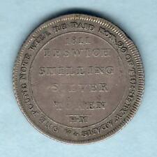Great Britain. 1811 Silver Shilling Token.. Suffolk-Ipswich. W.Adams.. F-F+ RARE