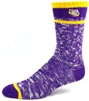 LSU Tigers NCAA Purple and Gold Alpine Knit Crew Socks