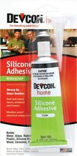 NEW Devcon 12045 1.76 Oz. TUBE Clear Silicone Adhesive GLUE CLEAR 6234280