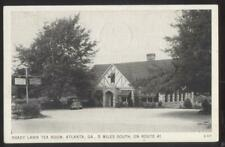 Postcard ATLANTA Georgia/GA  Shady Lawn Tea Room Restaurant Promo Ad 1930's