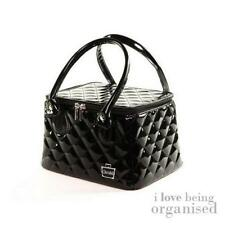 Small Cosmetic Tote Bag w/ Makeup Compartments Travel Toiletry Bag Purse