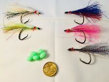 Hook'em DIY Snapper Flash fishing rigs 5/0 Hooks  Asstd Colours With Fluro Beads