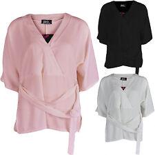 Polyester V Neck Kimono Sleeve Dresses for Women