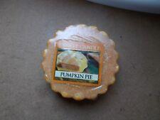 Yankee Candle USA RARE Pumpkin Pie Tarte en cire