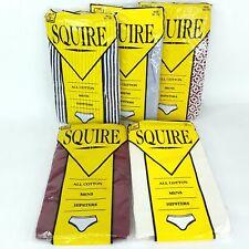 Squire Underwear Undies Briefs Mens size 95 - 100 Cotton Hipster Vintage Bulk