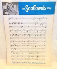 WEIRD 1960S AUSSIE TV ADVERTISING JINGLE SHEET MUSIC - THE SCOTTOWELS SONG! NM!!