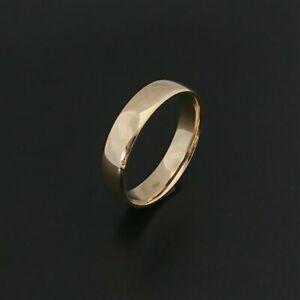 Solid 18ct Yellow Gold Half Round 5mm Wedding Ring