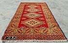 Hand knotted Vintage Pakistan Bokhara Jhaldar Wool Area Rug 4.1 x 2.5 Ft