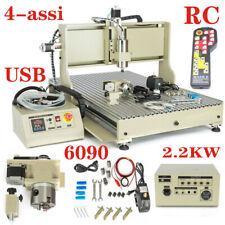 USB 4 Assi 2.2KW CNC 6090 Router 3D Fresatrice Macchina per Incidere +Controller