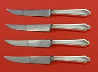 "Minuet by International Sterling Silver Steak Knife Set 4pc HHWS  Custom 8 1/2"""