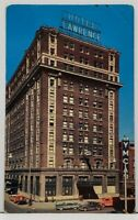 Erie Pennsylvania LAWRENCE HOTEL Old Cars 1940's-1950's Postcard H1