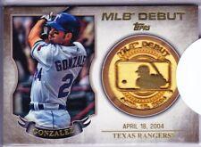 ADRIAN GONZALEZ 2016 Topps MLB DEBUT MEDALLIONS Relic TEXAS RANGERS Hot!!!
