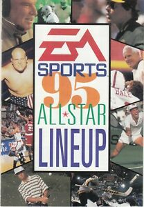 1995 EA Sports All Star Lineup Catalog Video Game insert - Madden 95 +
