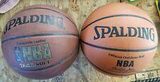 Lot of 2 Spalding basketballs