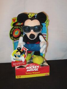 Mickey Mouse Walt Disney Toy Fisher Price Tuney Bopper Harmonica Singing Doll
