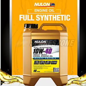 Nulon Full SYN 10W-40 Diesel Engine Oil 10L for Toyota Hilux KUN26R KUN16R T/D