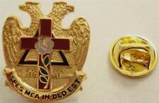 ROSE CROIX Masonic Eagle Scottish Rite Lapel Pin