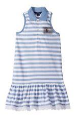 NWT Ralph Lauren Girl Blue White Striped Pony Tank Polo Dress Sz XL 16