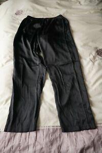 La Perla black 100% silk pyjama bottom pants Italian Size 2,  UK size 10/12