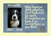 Pet Picture Print, Your Dog Photo & Name, Personalised Memorial Dog Cat any Pet