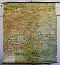 Scheda crocifissi MURO CARTA MAPPA STEIERMARK Graz F & B Austria 150t ~ 1935 146x162