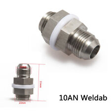 Universal Turbo Steel Oil Pan Return Drain Plug Adapter Bung Fitting 10AN Weldab
