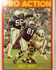 1972  Ray May Baltimore Colts  Topps NFL Football Card Johnny Unitas