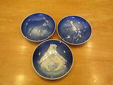 Set of 3 Royal Copenhagen Mother's Day Mors Dag Plates 1972, 1973 & 1974