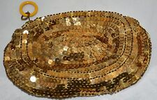 Vintage Metallic Gold Sequined Clutch Evening Purse ~ FREE Shipping Within USA